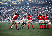 Gerd Muller (West Germany) runs round the England Wall as Gunter netzer takes the Free kick. West Germany v England. 1/4 European Nations Championship, 13/05/1972. Credit: Colorsport