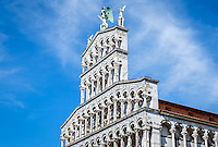 LUCCA ITALY - CIRCA MAY 2015:  Church San Michele in Foro  in Lucca