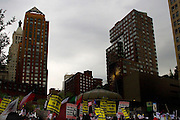 Immigration Demonstration in Union Square, New York, United States. International Workers Day