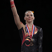 Mykayla Skinner, Gilbert, Arizona, during presentations at the Senior Women Competition at The 2013 P&G Gymnastics Championships, USA Gymnastics' National Championships at the XL, Centre, Hartford, Connecticut, USA. 17th August 2013. Photo Tim Clayton