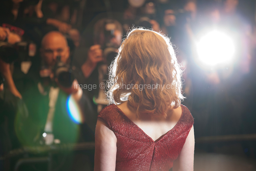 Actress Geena Davis being photographed  at the gala screening for the film The Nice Guys at the 69th Cannes Film Festival, Sunday 15th May 2016, Cannes, France. Photography: Doreen Kennedy