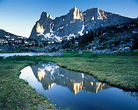 Warbonnet and Warrior Peaks, Cirque of the Towers Popo Agie Wilderness Wind River Range Wyoming USA