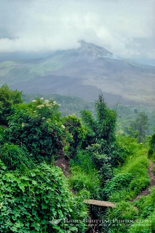 Bali, Bangli, Kintamani. Mount Batur (Gunung Batur) is an active volcano located north west of Mount Agung.