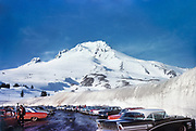 CS00903-03. Mt. Hood parking lot March, 1964
