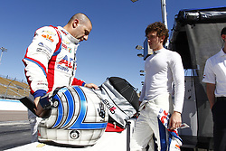 February 8, 2018 - Avondale, Arizona, United States of America - February 08, 2018 - Avondale, Arizona, USA: Matheus Leist (4) gets a few tips from Tony Kanaan (14) during  the Prix View at ISM Raceway in Avondale, Arizona. (Credit Image: © Justin R. Noe Asp Inc/ASP via ZUMA Wire)