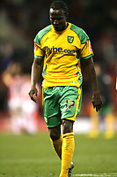 Photo: Paul Greenwood/Sportsbeat Images.<br />Stoke City v Norwich City. Coca Cola Championship. 01/12/2007.<br />norwich's Mo Camara leaves the field at the end of the game