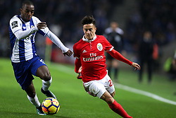 December 1, 2017 - Porto, Porto, Portugal - Benfica's Argentinian forward Franco Cervi (R) in action with Porto's Portuguese defender Ricardo Pereira (L) during the Premier League 2016/17 match between FC Porto and SL Benfica, at Dragao Stadium in Porto on December 1, 2017. (Credit Image: © Dpi/NurPhoto via ZUMA Press)