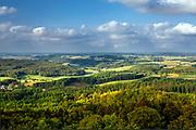 Pojezierze Kaszubskie (woj. pomorskie), widok z wieży widokowej w Wierzycy.