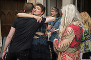 TOM BRIGHT; LAUREN JONES; GRAZIA MATERIA, ,  Rock and Roll Public Library. Mick Jones and James Putnam and Alteria Art, Calle della Pieta, Venice Biennale, Venice. 6 May 2015