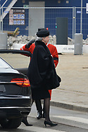 20.02.2018. Copenhagen, Denmark. <br /> Princess Benedikte's arrival to Christiansborg Palace Church. <br /> Photo: Ricardo Ramirez.