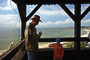Turyści na wieży widokowej, Hel