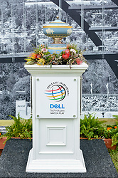 March 23, 2018 - Austin, TX, U.S. - AUSTIN, TX - MARCH 23: The trophy awaits the champion of the WGC-Dell Technologies Match Play on March 23, 2018 at Austin Country Club in Austin, TX. (Photo by Daniel Dunn/Icon Sportswire) (Credit Image: © Daniel Dunn/Icon SMI via ZUMA Press)
