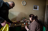 Sarkis, left, and his wife Maral, prepare traditional painted eggs for their familes' Easter celebration.