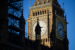 © Licensed to London News Pictures. 29/12/2016. London, UK. Repair work being carried out to the Houses of Parliament building in Westminster, London. Photo credit: Ben Cawthra/LNP
