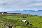 Derelict farm and barn at Kalnakill near Applecross, Wester Ross in the Scottish Highlands