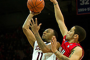 DALLAS, TX - JANUARY 4: Ryan Boatright #11 of the Connecticut Huskies drives to the basket against the SMU Mustangs on January 4, 2014 at Moody Coliseum in Dallas, Texas.  (Photo by Cooper Neill) *** Local Caption *** Ryan Boatright