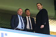 Barry Fry, the director of football at Peterborough Utd (l) with Darragh Macanthony, the chairmen of Peterborough Utd looking on during the game. The Emirates FA cup, 3rd round match, Chelsea v Peterborough Utd at Stamford Bridge in London on Sunday 8th January 2017.<br /> pic by John Patrick Fletcher, Andrew Orchard sports photography.