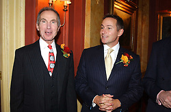 Left to right, GEORGE GORING and his son JEREMY GORING at a party to say goodbye to George Goring and hello to his son Jeremy Goring as MD of the Goring Hotel,Beeston Place, London on 2nd March 2005.<br /><br />NON EXCLUSIVE - WORLD RIGHTS
