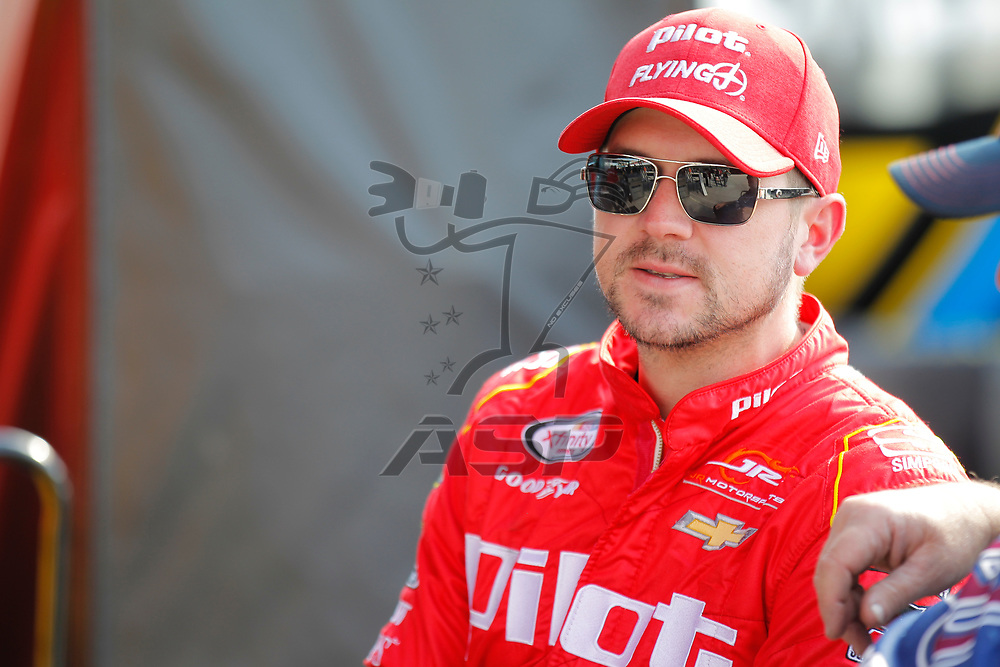 November 17, 2017 - Homestead, Florida, USA: Michael Annett (5) hangs out in the garage before practice for the Ford EcoBoost 300 at Homestead-Miami Speedway in Homestead, Florida.