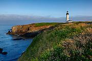 USA, Oregon, Newport, Yaquina Head, historic Yaquina Head Lighthouse, Digital Composite HDR