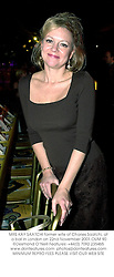 MRS KAY SAATCHI former wife of Charles Saatchi, at a ball in London on 22nd November 2001.OUM 90