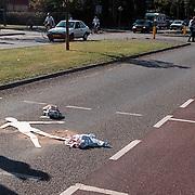 Ongeval Gemeenlandslaan Huizen, vrouw aangereden door motor