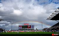 Feb 2, 2019; San Jose, CA, USA; A rainbow during the second half of the international friendly at Avaya Stadium. Mandatory Credit: Kelley L Cox-USA TODAY Sports