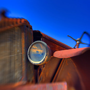 Rusted Auto In The Sky - Motor Transport Museum - Campo, CA - Lensbaby