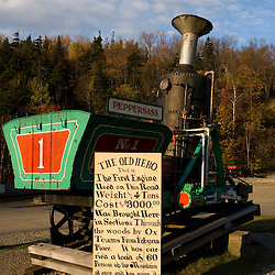 An old engine from the cog railroad on Mount Washington in Twin Mountain, New Hampshire.