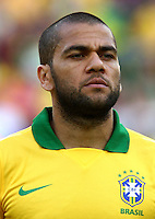 "Football Fifa Brazil 2014 World Cup Matchs-Friendly / <br /> Brazil vs England 2-2  ( Jornalista Mario Filho - Maracana Stadium-Rio de Janeiro, Brazil )<br /> "" DANIEL ALVES "" Da Silva of Brazil , Prior the Friendly match between Brazil and England"
