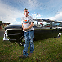 Graeme Lemin, hearse collector. Melbourne, Vic.