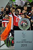 FOOTBALL - FRENCH CHAMPIONSHIP 2010/2011 - L1 - LILLE OSC v STADE RENNAIS - 29/05/2011 - PHOTO GUY JEFFROY / DPPI - CELEBRATION GERVINHO (LIL)