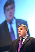 © Licensed to London News Pictures. 28/09/2011. LONDON, UK. Paul McKeever, Chairman of the Police Federation delivers a speech at The Labour Party Conference in Liverpool today (28/09/11). Photo credit:  Stephen Simpson/LNP