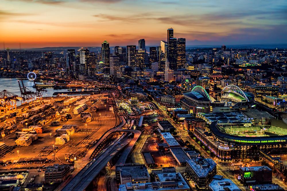 Port of Seattle, Safeco & CenturyLink Fields, Downtown Seattle