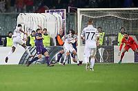 Il gol del 2-3 di Garry Rodrigues Paok<br /> Goal Celebration Paok <br /> Firenze 24-11-2016  Stadio Artemio Franchi<br /> Europa League Fiorentina - Paok<br /> Foto Luca Pagliaricci / Insidefoto