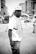 An african american man in the street, Upper west side. New York City, 23 june 2010. Christian Mantuano / OneShot