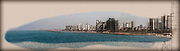 Israel, Tel Aviv coastline as seen from south from Old Jaffa. Digitally enhanced