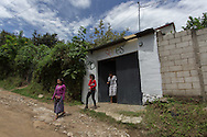 Antonio Cruz Sanchez, 26, and his co-workers Abigail Quic and Isabel, head down to Antigua, Guatemala, to go grocery shopping for the SERES Embassy where they work and also live. San Juan Del Obispo, Guatemala, July 23, 2014