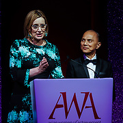 London, UK. 10th May 2017.Rt Hon Amber Rudd,Jimmy Choo at The Asian Women of Achievement Awards 2017 at the London Hilton on Park Lane Hotel. Photo by See li Credit: See Li