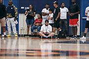 THOUSAND OAKS, CA Sunday, August 12, 2018 - Nike Basketball Academy. Matteo Marchi sits on the baseline. <br /> NOTE TO USER: Mandatory Copyright Notice: Photo by Jon Lopez / Nike