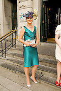 Angela Reid Oranmore Galway at Hotel Meyrick in Eyre Sq. Galway for their best dressed Lady Competition during Galway's Race week . Photo:Andrew Downes