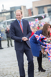Prince William, Duke of Cambridge and Catherine, Duchess of Cambridge on their visit to the original Royal Research Ship Discovery as part of an away day to the Scottish City of Dundee, on October 23, 2015 in Scotland, UK. The Discovery carried Scott and Shackleton on their first expedition to the Antarctic.