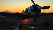 FW 190 replica  of the Erickson Aircraft Collection, at Sunset.