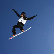 Amber Arazny, Australia, in action during the Snowboard Slopestyle Ladies competition at Snow Park, New Zealand during the Winter Games. Wanaka, New Zealand, 21st August 2011. Photo Tim Clayton