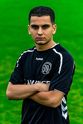 "Portret of Hamid Cortet of VV Maarssen . Photoshoot of the selection 2020-2021, sat 1 of VV Maarssen with the Corona rule ""1.5 meters away"" on 16 June 2020, sports park Daalseweide in Maarssen."