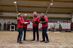 Van Tricht Tim, Van den Broeck Herman, De Smet Stefaan, Meurens Inge,BEL<br /> BWP Hengstenkeuring 2021<br /> © Hippo Foto - Dirk Caremans<br />  11/01/2021