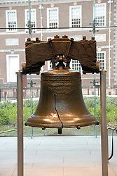 Liberty Bell closeup..Philadelphia, Pennsylvania, PA USA.  Photo copyright Lee Foster, 510-549-2202, lee@fostertravel.com, www.fostertravel.com.  Photo 261-3074