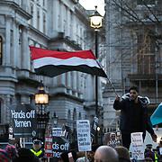 Anti Bin Salman protest opposite Downing Street 07.03.18