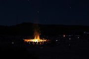 Camp fire during the European Rainbow Gathering of 2011 in Portugal