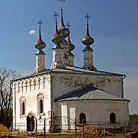 Europe, Russia, Suzdal. The Church of the Entry into Jerusalem.